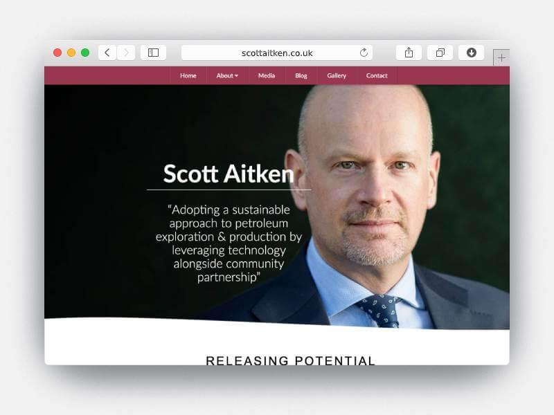 photo of scott aitken on the site
